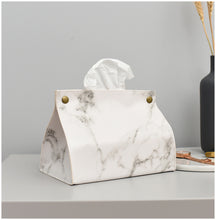 Load image into Gallery viewer, Nordic Style Marble Pattern Leather Tissue Box