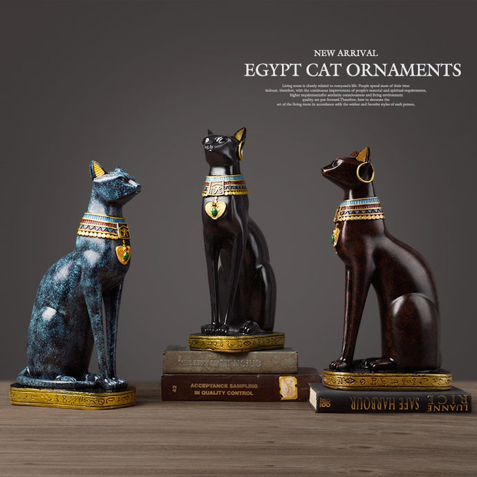 Vintage Egyptian Cat Table Ornaments