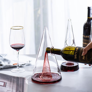 Handmade Pyramid Crystal Wine Decanter