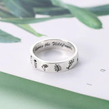S925 Silver Wildflowers Ring Nature Lover Gift