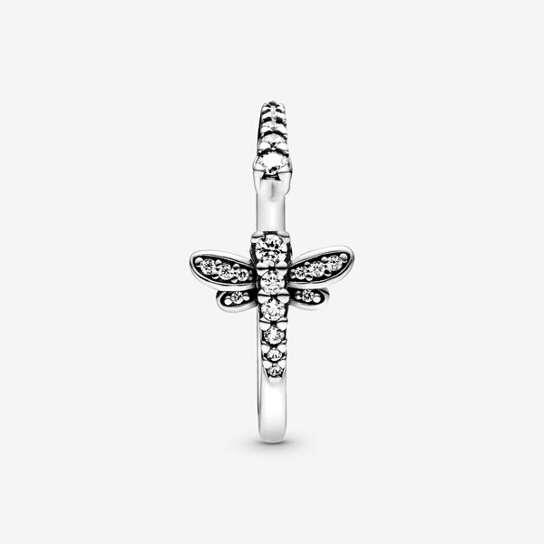 Sparkling Dragonfly Open Ring