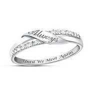 """Until We Meet Again"" 925 sterling silverRemembrance Ring"