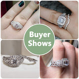 Engagement Wedding Ring Set for Women 925 Sterling Silver 2.4ct Round Pear White Cz Size 5-12