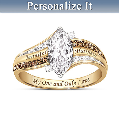 """My One And Only Love"" Personalized 925 sterling silver Ring"