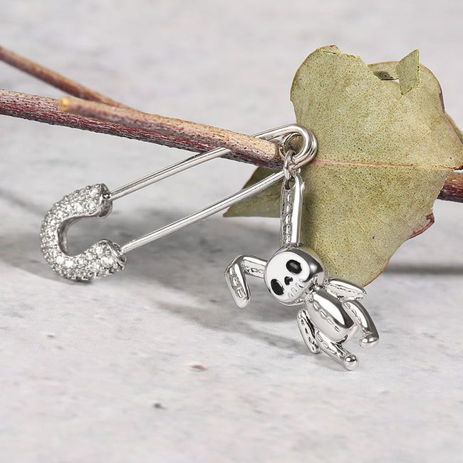 Paperclip Bunny Doll Dangle Earring 925 Sterling Silver
