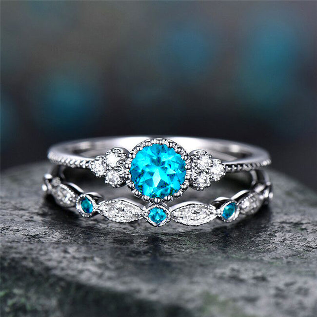 Luxury Stone Crystal Rings For Women Sliver Color Wedding Engagement Rings Jewelry Dropship bagues pour