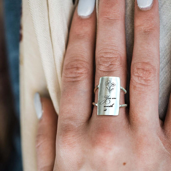 Forgiving What You Can't Forget Ring 925 Sterling Silver Inspirational Ring