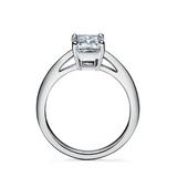 Emerald-cut 925 sterling silver Engagement Ring