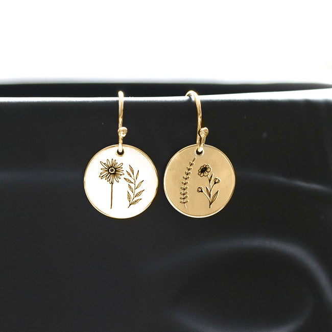 S925 Sterling Silver Wildflower Nature Ring Necklace Bracelet Earrings