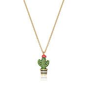 Cactus Mini Pendant Necklace