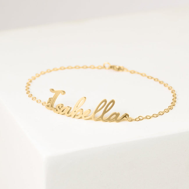 Custom Name Bracelet in Rose Gold, Gold & Sterling Silver • Dainty Initials Bracelet • Bridesmaids Gifts