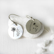 S925 Sterling Silver Wildflower Nature Earrings