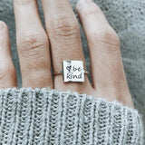 925 sterling silver be kind  ring& be kind  heart Shaped Ring for Women for Her