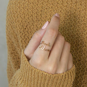 [Holiday Discount] Double Name Ring