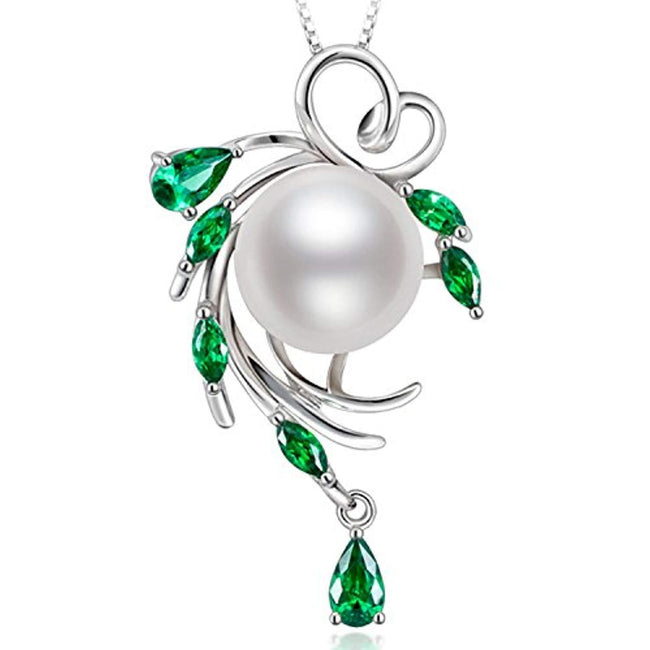 Fine Jewelry Gifts for Women 925 Sterling Silver Freshwater Cultured White Pearl Pendant Necklace