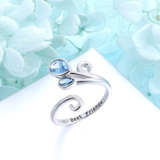 Animal Rings S925 Sterling Silver Cute Sea Horse Open Rings Unique Design Love Sea Size Adjustable Finger Ring for Women