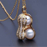 Necklace Jewelry Real Natural Freshwater pearls Peanut Pendant Necklace For Women Lowest Price 925 Silver Fine Jewelry