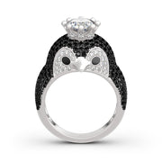 "Romanticwork ""Be Your King"" Penguin Ring"