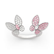 """Spring is Coming"" Two Butterfly 925 Sterling Silver Ring"