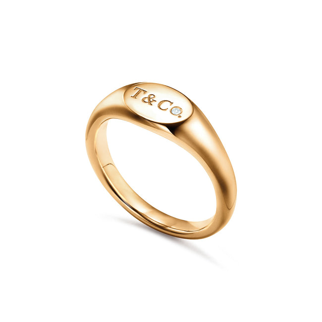 Micro Oval Signet Ring