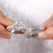 Romanticwork Pricess Cut Ring Sets