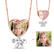 My Precious Girl Photo Charm Necklace Sterling Silver O Chain