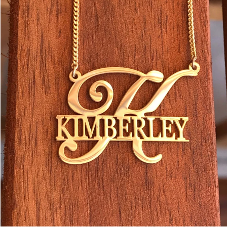 s925 Unique Style Personalized Name Necklaces Pendants Customized Jewelry Big First Letters Nameplate Choker Necklace For Women Gifs