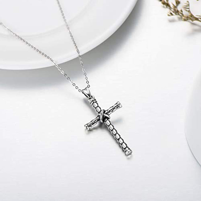 925 Sterling Silver Cross Necklace, Meaningful Gift for Holiday, Christmas, Valentines Day Necklaces Sterling Silver Necklace SOULMEET