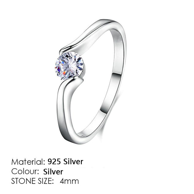 Moissanite Engagement/Wedding Finger Rings For Women Rose Gold Color Fashion Brand Jewelry For Women