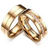 Engrave Name Wedding Rings for Women Men Couple Promise Band 925 sterling silver Engagement Jewelry