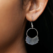 925 Sterling Silver Dissent Collar Hook and Hoop Earrings, Ginsburg Earrings for gift RBG