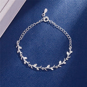 925 Sterling Silver Moonlight Forest Bracelets Leaves Branches Bracelets & Bangles For Women Girls Wedding Jewelry