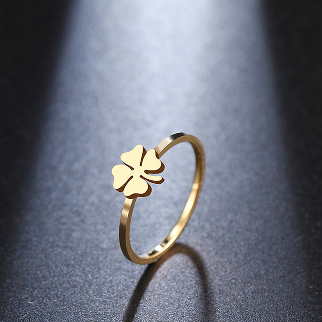 For Women Clover Pattern Ring New 925 Silver Girls Luxury Party / Wedding Jewelry