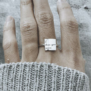 S925 Sterling Silver You are loved Ring You are my sunshine Inspirational Ring For Women Girls Gift BFL