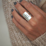 925 Sterling silver Make Yourself A Priority Inspirational Ring