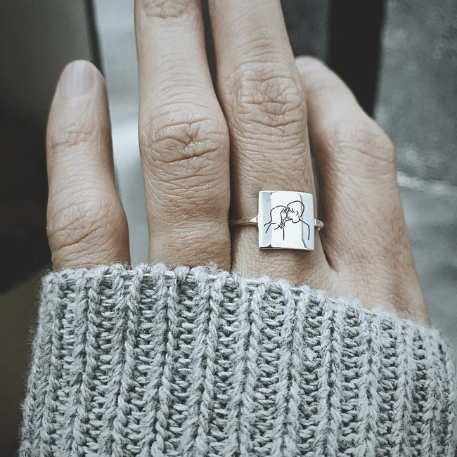 925 Sterling Silver Couples Ring
