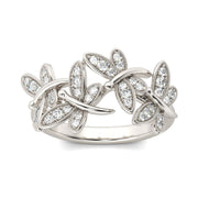 Dragonfly 925 Sterling Silver Band