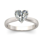 Romanticwork Solitaire Heart Cut Ring
