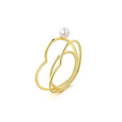 Love contour pearl ring
