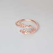 Double Name Ring • Two Name Ring • Personalized Gift For Mom • Best Friend Gift •  ONLY FOR U