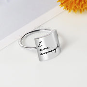 【 Cyber Monday 30% OFF!】I Am Enough Ring Choose Joy Ring S925 Sterling Silver Personalized Ring Inspirational Ring