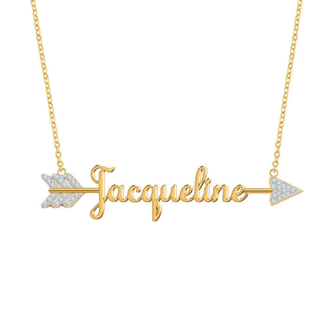 Personalized Cupid's Arrow Name Necklace-Love you forever