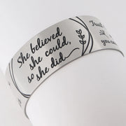 925 Sterling Silver She Believed She Could So She Did Inspirational Ring