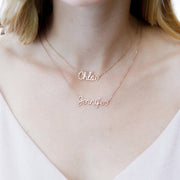 Double Chain Name Necklace • Personalized Layer Name Necklace • Dainty Names Jewelry • Children Names Necklace • Mothers Gift