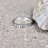 Dog Name Ring, Paw Print Ring, Sterling Silver Pet Name Ring, Pet Ring, Stackable Ring, Animal Name with Paw Prints, Dog Mom Ring, Sterling Silver