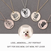 Personalized Necklace Custom Pet Lovers Dog Jewelry Pet Portrait Gift Dog Necklace Memorial Gift Pet Gift For Dog Mom Pet Photo Necklace