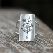 S925 Sterling Silver Wildflowers Ring Nature Ring