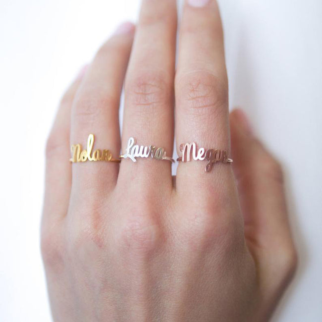 Custom Name Ring • Children Name Ring • Sterling Silver Ring • Personalized Gift • Gift for Her • Baby Girl Ring • Mother's Gift