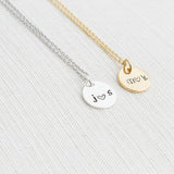 925 silver Initials Necklace, Disc Necklace, Couple Necklace, Personalised Jewellery, Gift