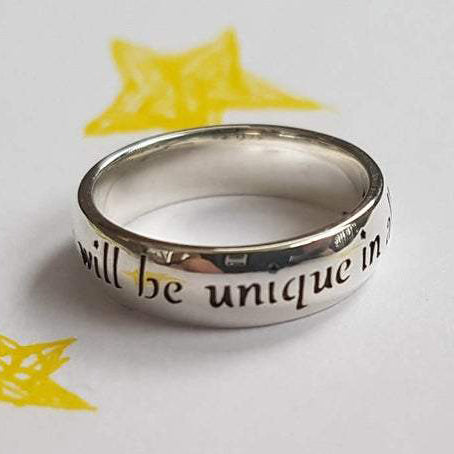 You Will Be Unique in All the World Adventure Ring Adventure Friendship Inspirational Quote Inspirational Ring Sterling Silver Handmade